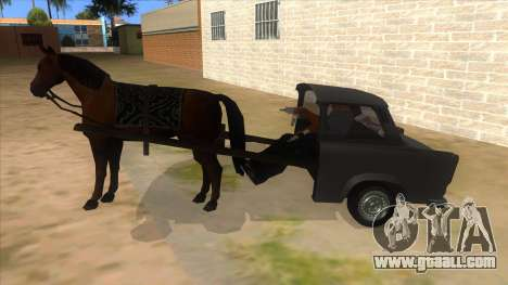 Trabant with Horse for GTA San Andreas left view
