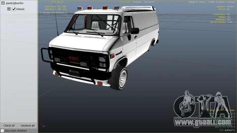 GTA 5 GMC Vandura (A-Team Van) right side view