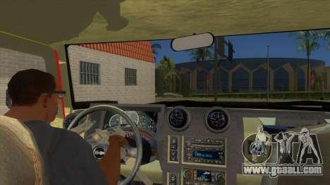 HUMMER H2 Firetruck for GTA San Andreas inner view