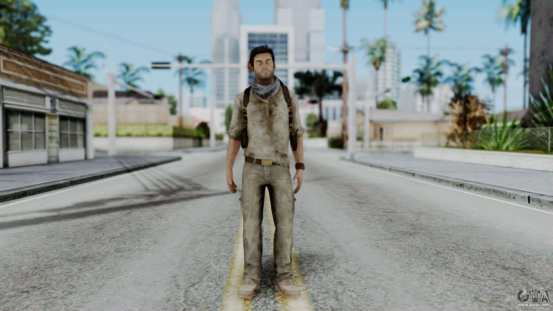 Uncharted 3 Nathan Drake Desert Outfit For Gta San Andreas