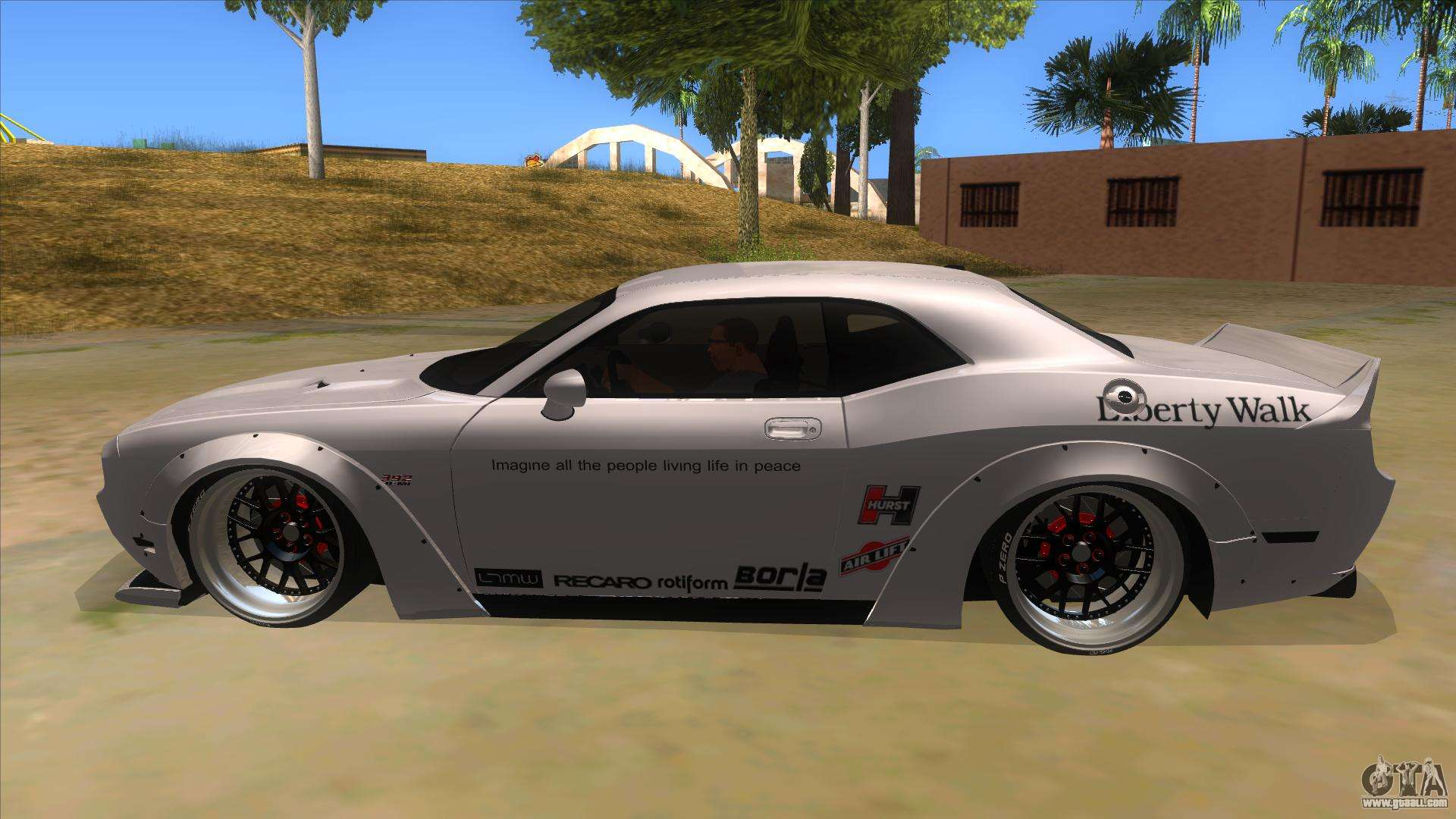 2012 dodge challenger srt8 liberty walk for gta san andreas. Black Bedroom Furniture Sets. Home Design Ideas