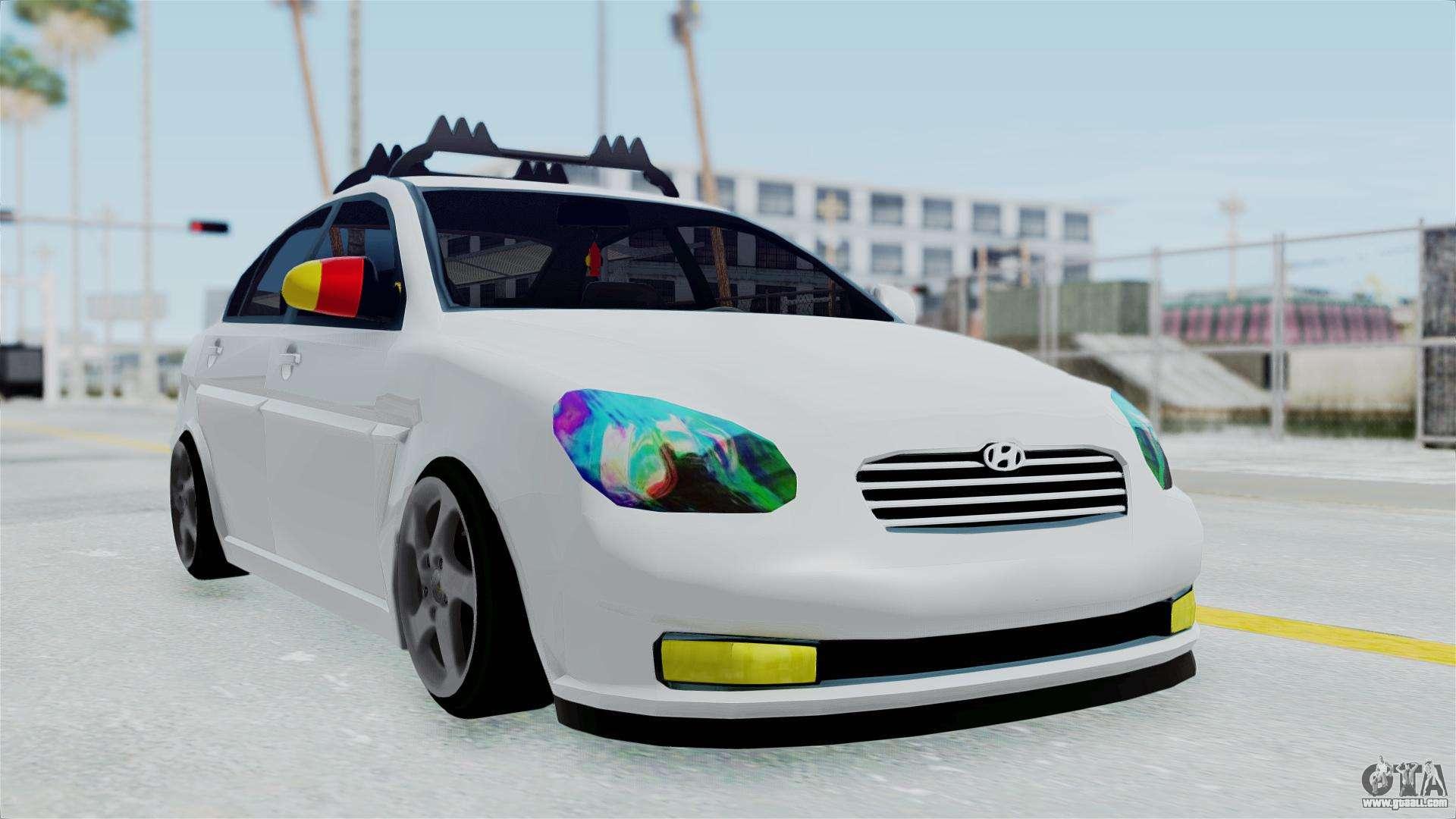 Hyundai accent essential garage for gta san andreas for Garage hyundai paris 18