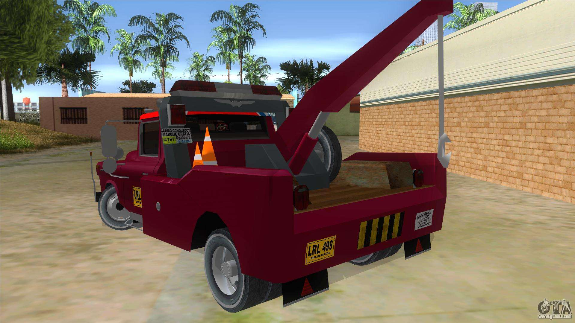 Chevrolet Towtruck 1954 For Gta San Andreas Dodge Tow Truck Back Left View