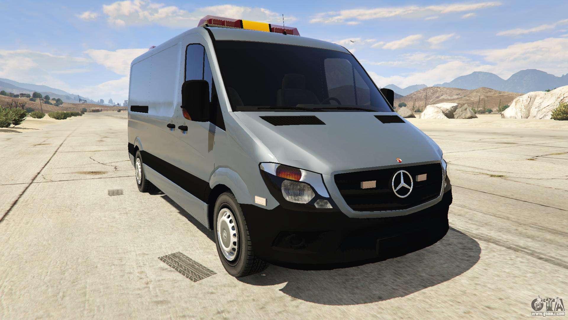 mercedes benz sprinter worker van for gta 5. Black Bedroom Furniture Sets. Home Design Ideas