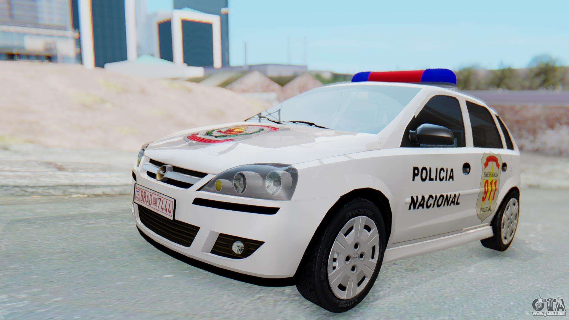 opel corsa c policia for gta san andreas. Black Bedroom Furniture Sets. Home Design Ideas