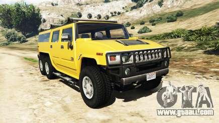 Hummer H2 6x6 v2.0 for GTA 5