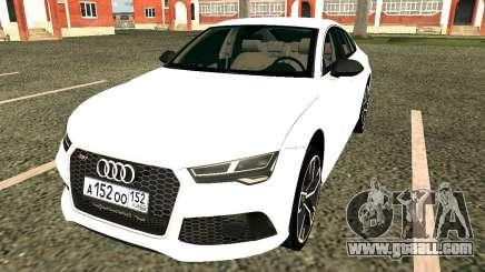 Audi RS7 Quattro for GTA San Andreas