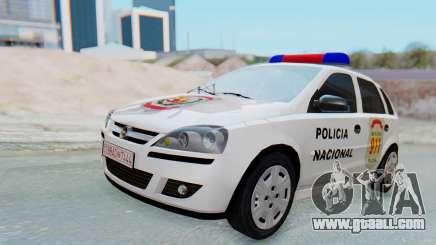 Opel Corsa C Policia for GTA San Andreas