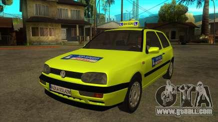 VW Golf Mk3 Top Speed Auto Skola for GTA San Andreas