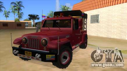Jeep Pick Up Stylo Colombia for GTA San Andreas