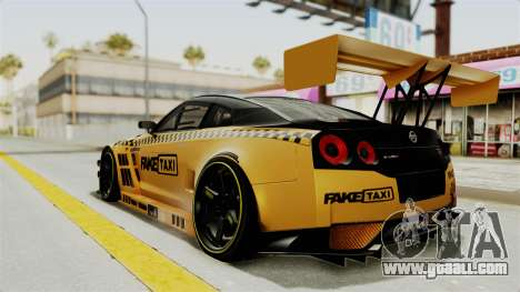 Nissan GT-R Fake Taxi for GTA San Andreas left view
