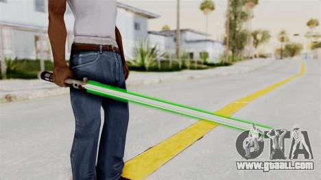 Star Wars LightSaber Green for GTA San Andreas third screenshot