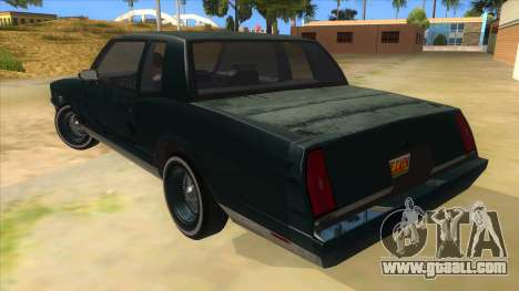 Chevrolet Monte Carlo 81 for GTA San Andreas back left view