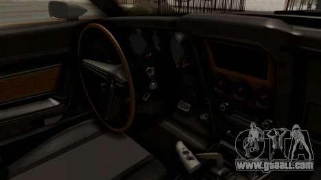 Ford Mustang 1971 Monster Truck for GTA San Andreas inner view