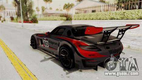 Mercedes-Benz SLS AMG GT3 PJ4 for GTA San Andreas wheels