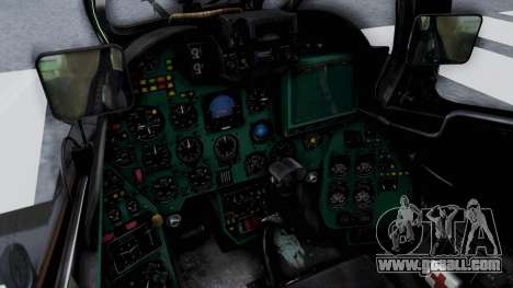 Mi-24V Czech Air Force 7354 for GTA San Andreas inner view