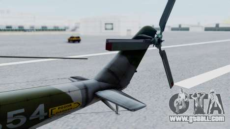 Mi-24V Czech Air Force 7354 for GTA San Andreas back left view