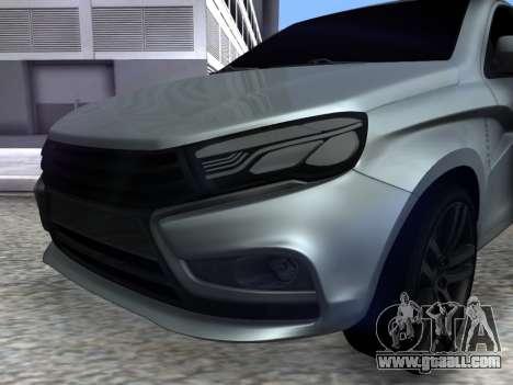 Lada Vesta HD (beta) for GTA San Andreas right view