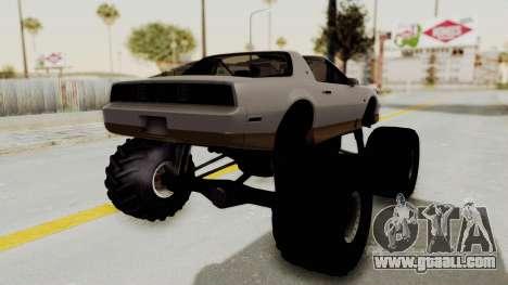 Pontiac Firebird Trans Am Monster Truck 1982 for GTA San Andreas right view