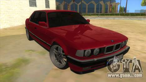 BMW E32 for GTA San Andreas back view
