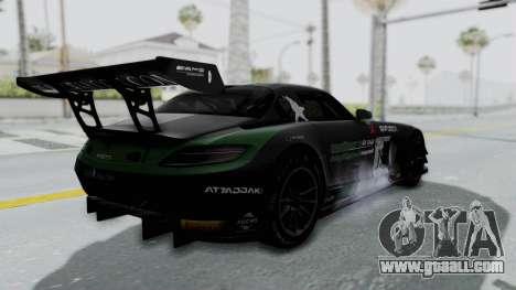 Mercedes-Benz SLS AMG GT3 PJ7 for GTA San Andreas upper view