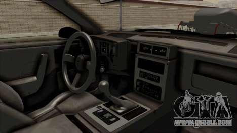 Pontiac Fiero GT G97 1985 Monster Truck for GTA San Andreas inner view