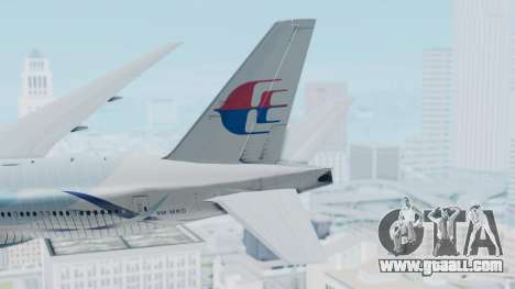 Boeing 777-2H6ER Malaysia Airlines for GTA San Andreas back left view