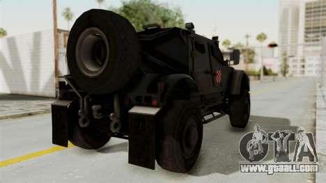 Croatian Oshkosh M-ATV Desert for GTA San Andreas left view