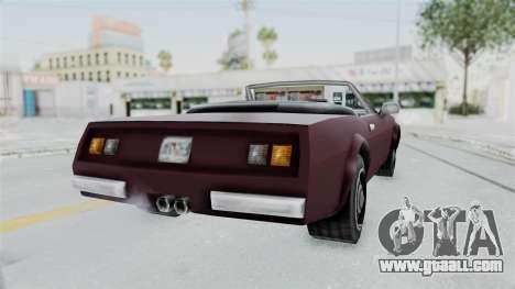 GTA VC Stinger for GTA San Andreas back left view