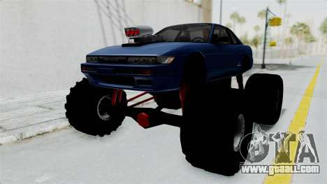 Nissan Silvia S13 Monster Truck for GTA San Andreas back left view