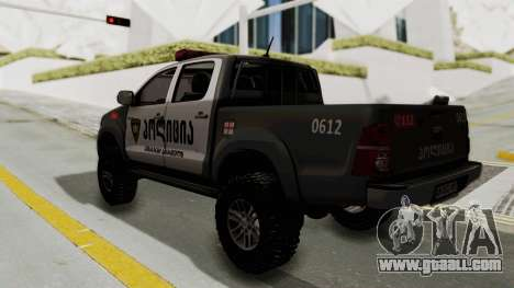 Toyota Hilux 4WD 2015 Georgia Police for GTA San Andreas left view