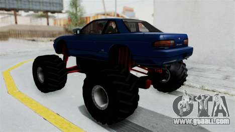 Nissan Silvia S13 Monster Truck for GTA San Andreas left view