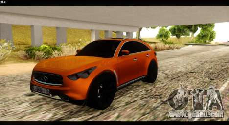 Infiniti FX37 for GTA San Andreas