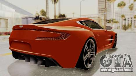 Aston Martin One-77 2010 Autovista Interior for GTA San Andreas left view