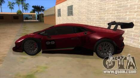 2015 Lamborghini Huracan LP610-4 Super Trofeo for GTA San Andreas left view