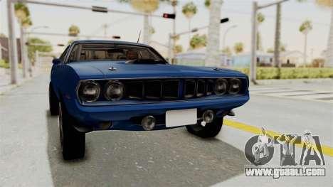 Plymouth Hemi Cuda 1971 Drag for GTA San Andreas right view
