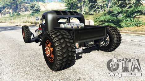 GTA 5 Dumont Type 47 Rat Rod rear left side view