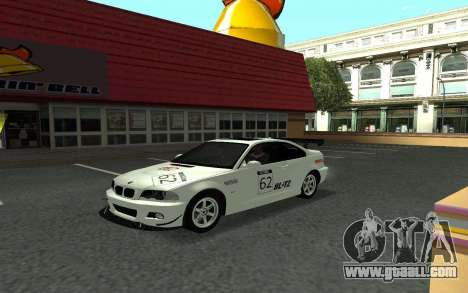 BMW M3 E46 Tunable for GTA San Andreas back view