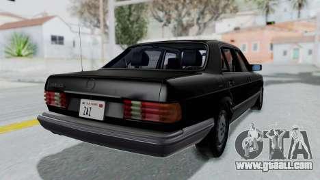Mercedes-Benz 560SEL 1987 US-spec for GTA San Andreas left view
