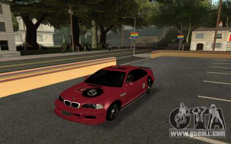 BMW M3 E46 Tunable for GTA San Andreas back left view