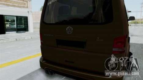 Volkswagen Transporter TDI Final for GTA San Andreas inner view