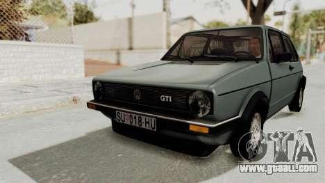 Volkswagen Golf Mk1 GTI for GTA San Andreas