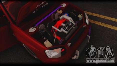 Subaru Impreza STi Drag Racing Unlim 500 for GTA San Andreas inner view