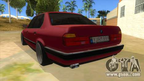 BMW E32 for GTA San Andreas back left view