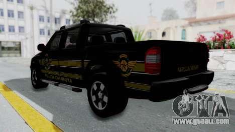 Chevrolet S10 Policia Caminera Paraguaya for GTA San Andreas left view