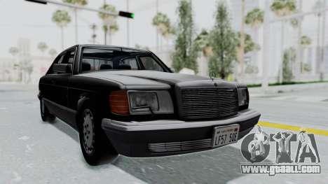 Mercedes-Benz 560SEL 1987 US-spec for GTA San Andreas