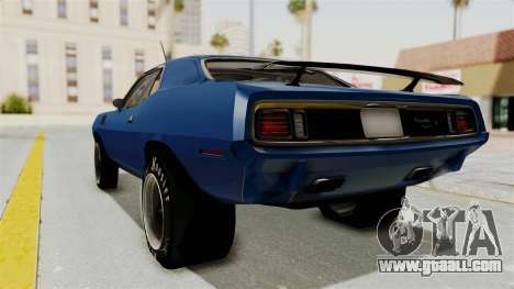 Plymouth Hemi Cuda 1971 Drag for GTA San Andreas left view