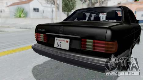 Mercedes-Benz 560SEL 1987 US-spec for GTA San Andreas back view