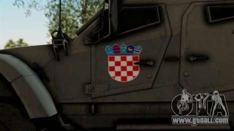 Croatian Oshkosh M-ATV Desert for GTA San Andreas back view