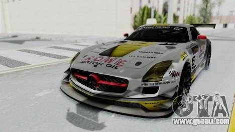 Mercedes-Benz SLS AMG GT3 PJ7 for GTA San Andreas back view